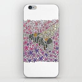 Vanishing Bee by Black Dwarf Designs iPhone Skin