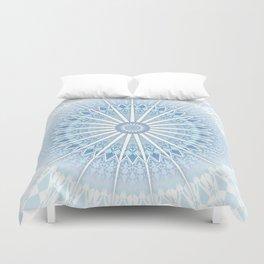 Pale Blue Mandala Duvet Cover