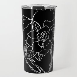 Flowering Left Atrium in White Travel Mug