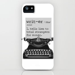 Writer Defined iPhone Case