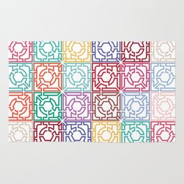 Maze Colorful Seamless Pattern Rug