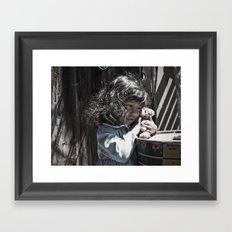 Missing bear Framed Art Print