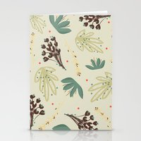 leaf Stationery Cards featuring leaf by Ceren Aksu Dikenci