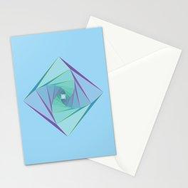 Downward Spiral Stationery Cards