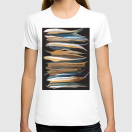 Brush Strokes on a Black Background T-shirt