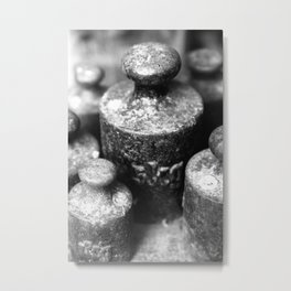 Weight Metal Print
