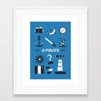 ouat Framed Art Prints featuring OUAT - A Pirate by Redel Bautista