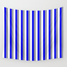 Team Colors 4... gray blue white Wall Tapestry