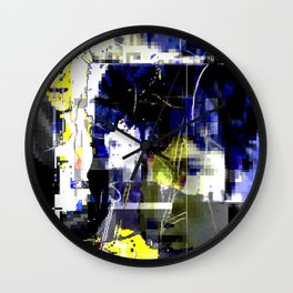 Glitch cover Wall Clock