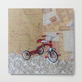 Tricycle Metal Print