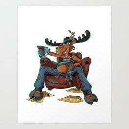 Mad Moose Art Print