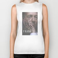 house of cards Biker Tanks featuring Frank Underwood / House of Cards by Earl of Grey