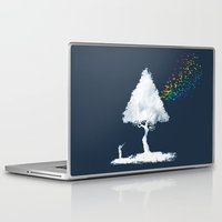 hunting Laptop & iPad Skins featuring colourful hunting by Steven Toang