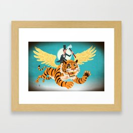 Abe Lincoln Flies a Tiger Framed Art Print