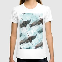 Abstract Whooping Cranes T-shirt
