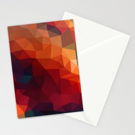 Burnt Jewel Low Poly Stationery Cards