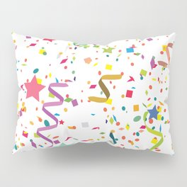 Wishes as Confetti / New Years Confetti. Pillow Sham