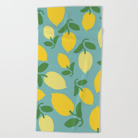 Le Citron Beach Towel