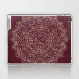 Rose Gold Marble Mandala Burgundy Textured Laptop & iPad Skin