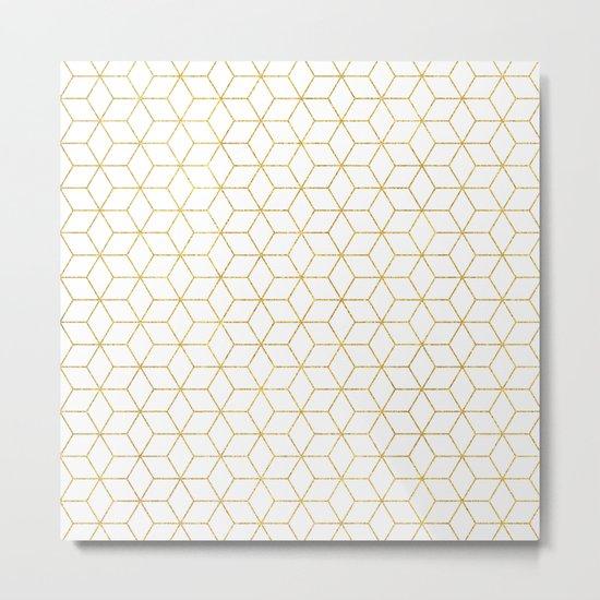 Gold + Geometric #society6 #decor #pattern Metal Print
