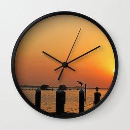 Winter Lullabye Wall Clock