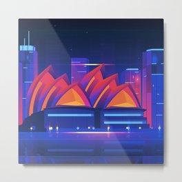 Synthwave Neon City #22: Sidney Metal Print