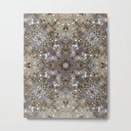 Gold and Champagne Glitter - Digital Photo Kaleidoscope Macro Metal Print
