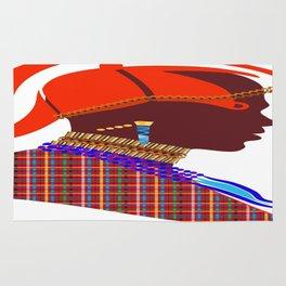 Kenya massai warrior digital art graphic design Rug