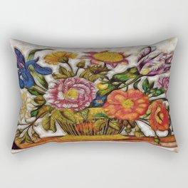 Flower Basket Rectangular Pillow