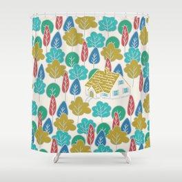 Happy Hermit Shower Curtain