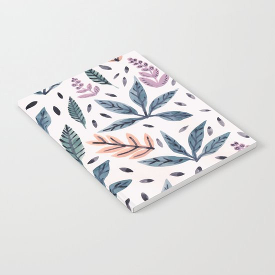 Painted Leaves Notebook