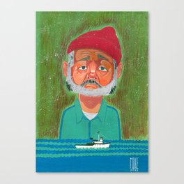 Steve Zissou (The Life Aquatic) Canvas Print