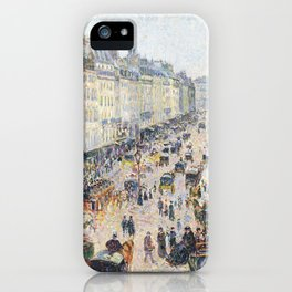 Saint Lazarus Street - Impressionist Painting iPhone Case