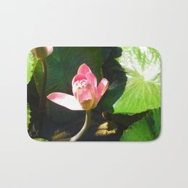 Hanalei Lotus, by Mandy Ramsey, Haines, AK Bath Mat