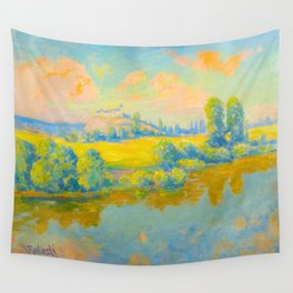 Václav Radimský (1867-1946) Pastel Colorful Impressionist Landscape Oil Painting Wall Tapestry