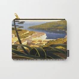 Vintage poster - La Riviera Italienne Carry-All Pouch