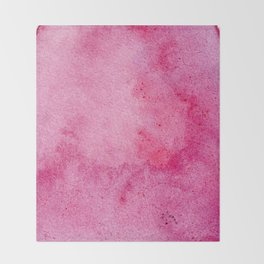 Pink marble watercolor texture Throw Blanket