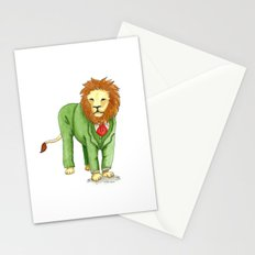 Lion in suit Stationery Cards