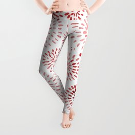 Abstract watercolor sparkles – red Leggings