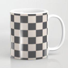 Traditional Checkerboard, Ecru-Beige and Chocolate-Deep Brown Coffee Mug