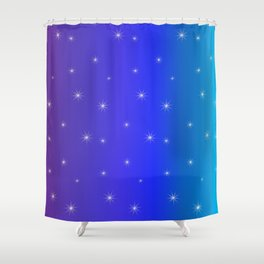 Starry Starry Blue Night Shower Curtain