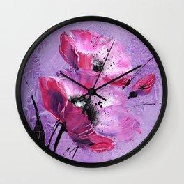 Pavot mauve Wall Clock