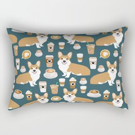 Corgi Coffee print corgi coffee pillow corgi iphone case corgi dog design corgi pattern Rectangular Pillow