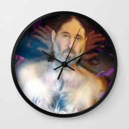 Self Portrait with Metaphors Wall Clock