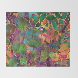 Floral Abstract Stained Glass G176 Throw Blanket