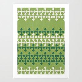 Vintage green Art Print