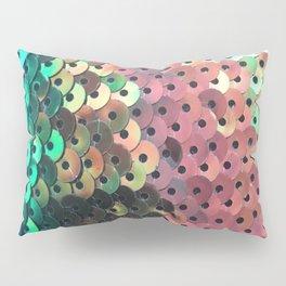 Blue, Pink, Aqua, Green and Black Sequin Pattern Pillow Sham