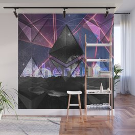 Ethereum Moon and Stars landscape Wall Mural