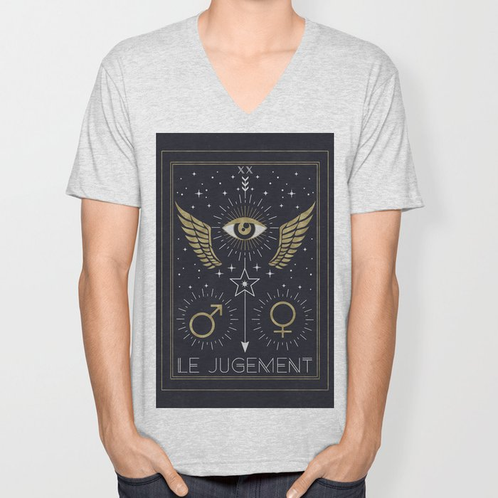 Le Jugement or The Judgement Tarot Unisex V-Neck