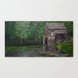 The Other Mill - Acrylic painting Canvas Print